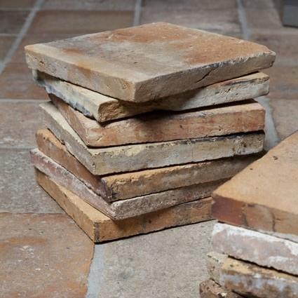 Various antique French terracotta tiles