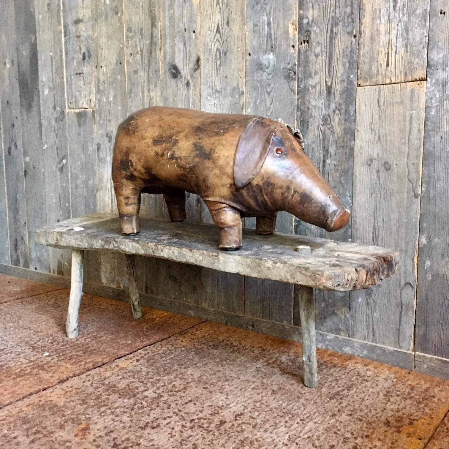 Rare old bench on three feet