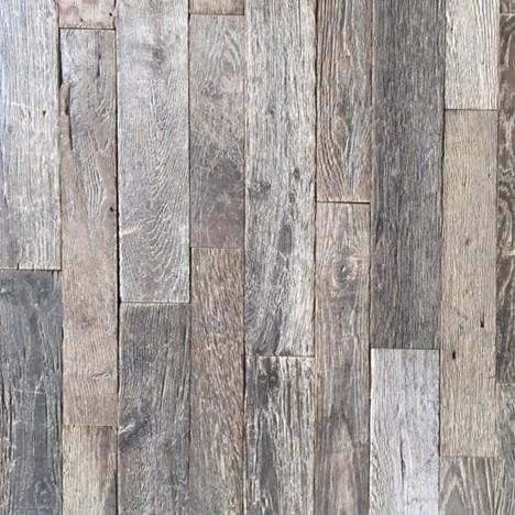 Very old and aged gray narrow oak 'loft' floor