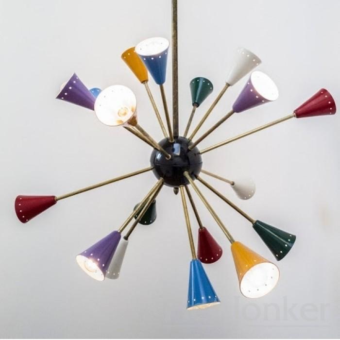 Vintage Design Stillnovo Style Sputnik Spider Lamp from the 60s.