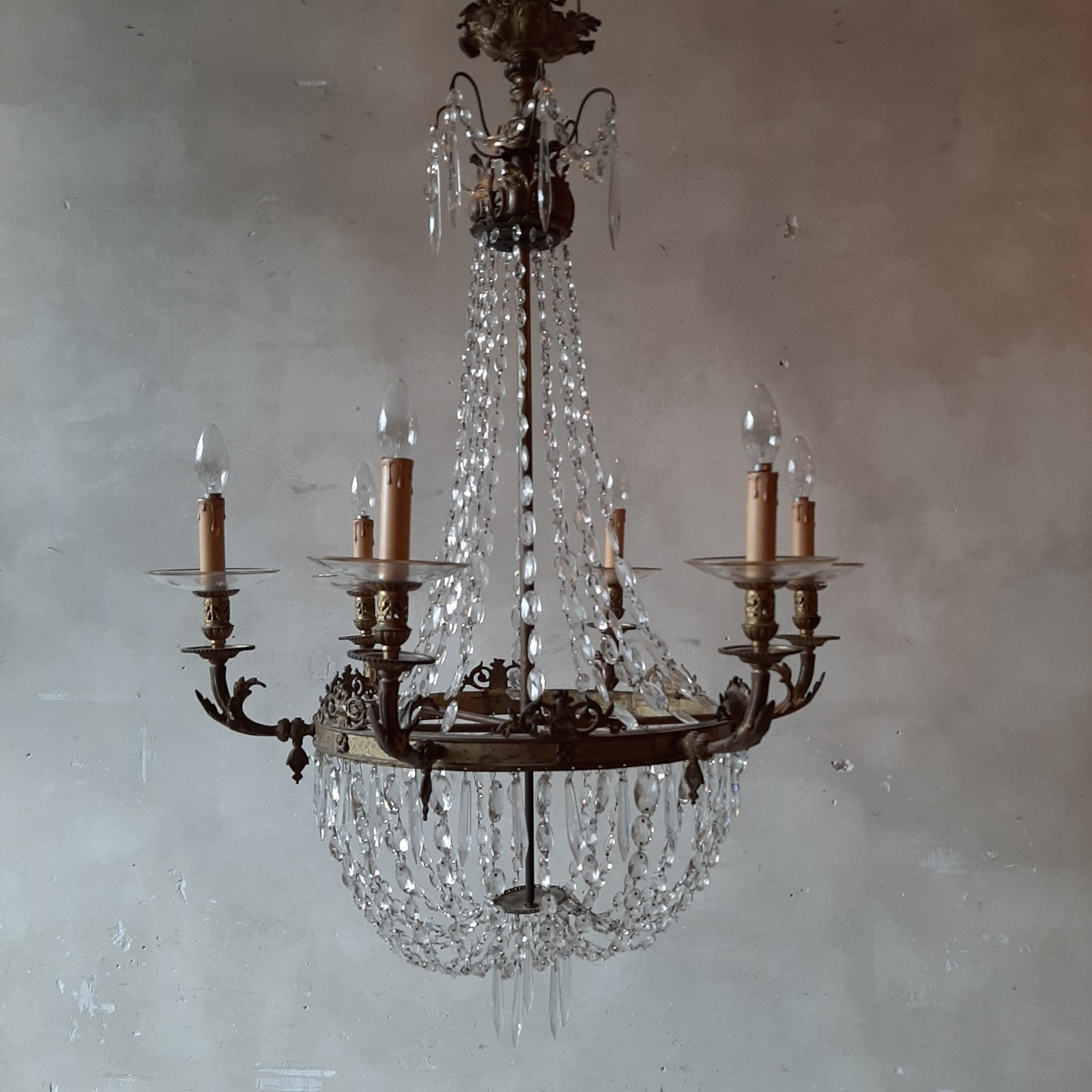 Early 19th century French chandelier in Empyre style