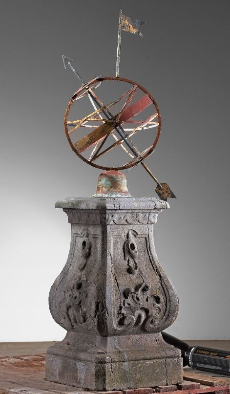Antique sundial armillary sphere