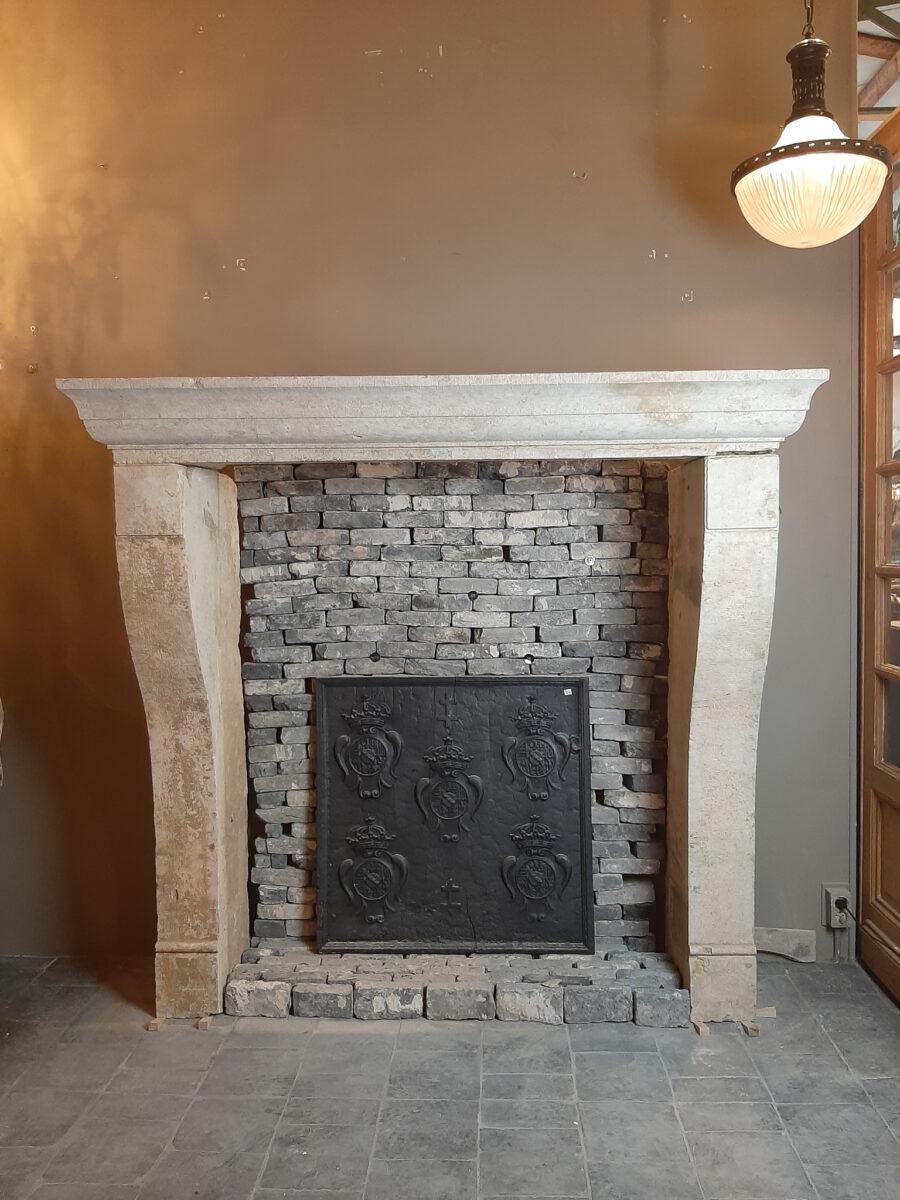 Antique French Limestone Fireplace Piet Jonker