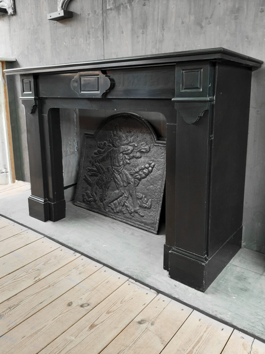 Antique Dutch Black Marble Fireplace Piet Jonker