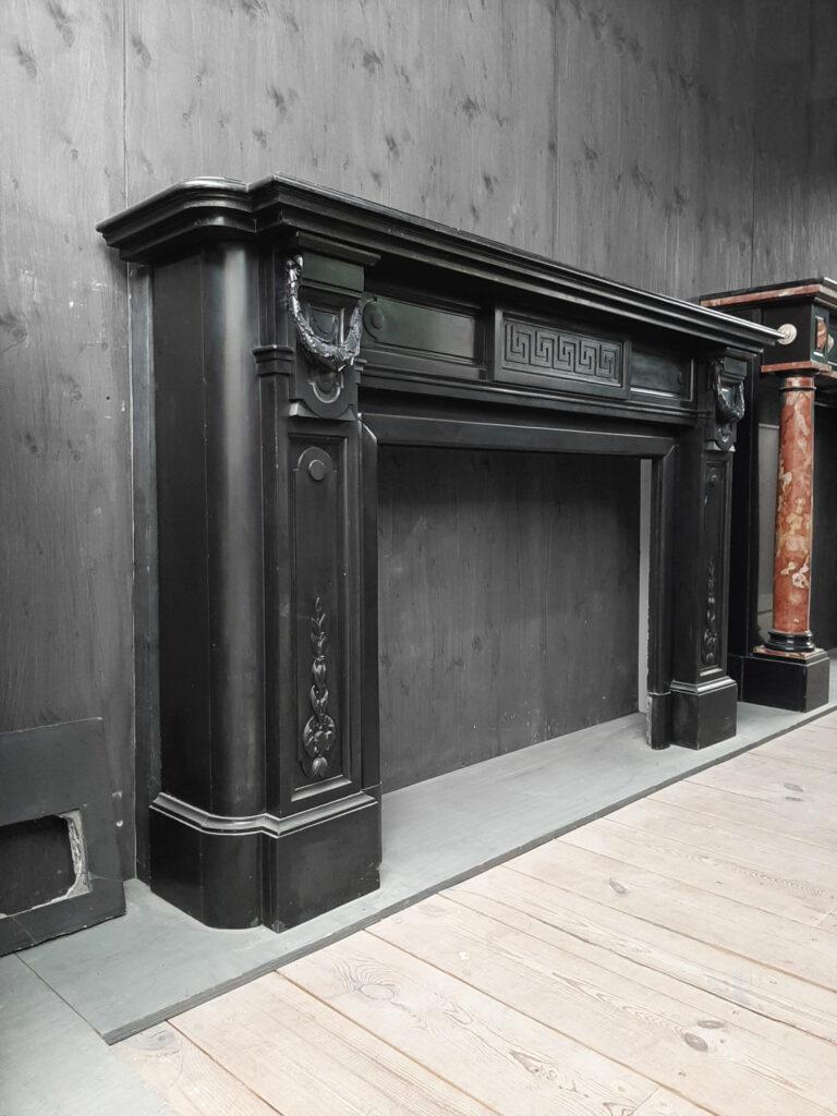 Large Dutch Black Marble Fireplace Piet Jonker