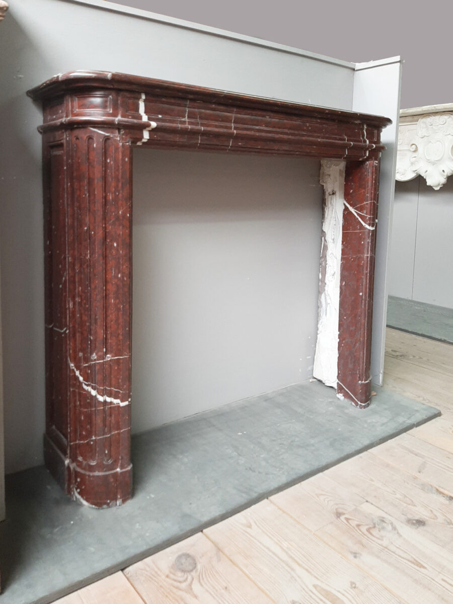 Deep Red Marble Fireplace Surround Piet Jonker